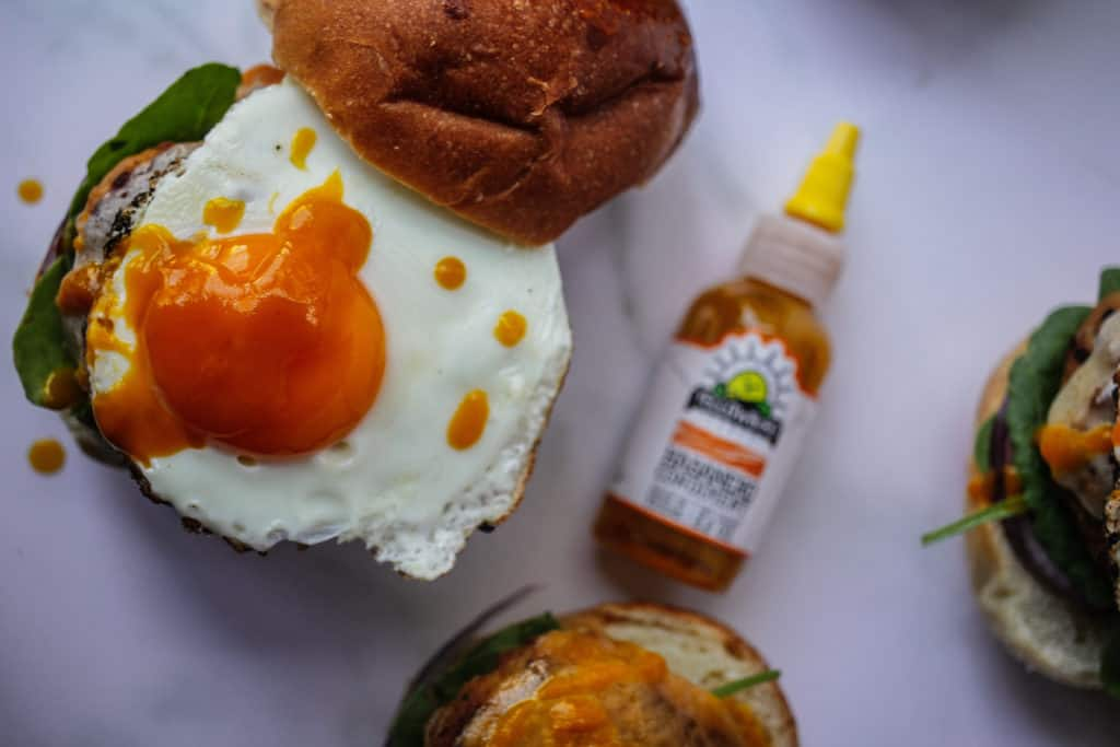 Habanero Pumpkin Fried Sage Turkey Burgers