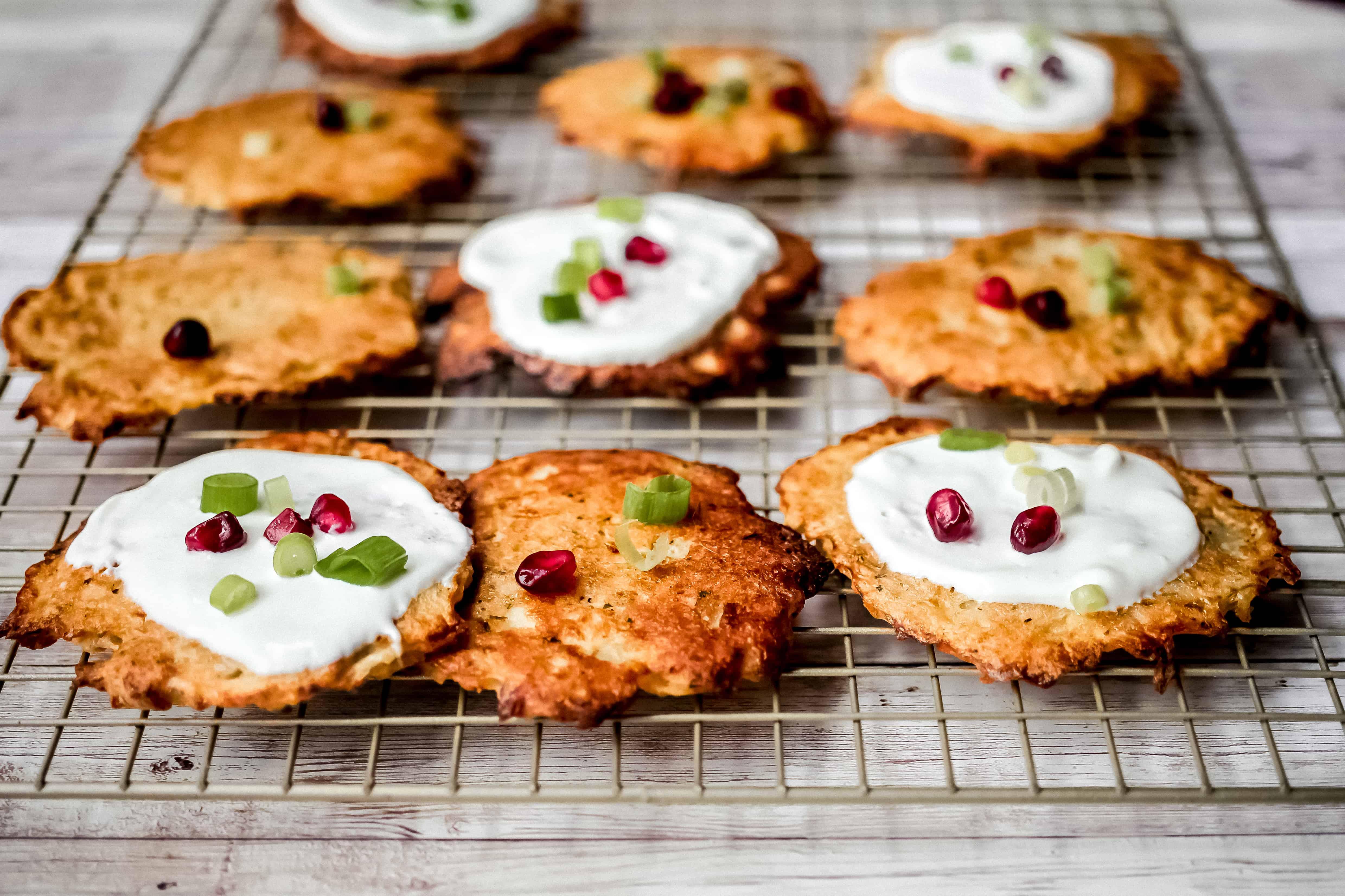 Easy Oven Baked Horseradish Potato Latkes (Paleo)