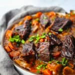 Red Wine Braised Short Ribs with Pomegranate Molasses