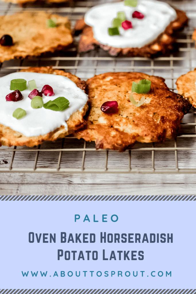 Easy Oven Baked Horseradish Potato Latkes (Paleo) PIN