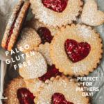 Vegan Lemon Vanilla Linzer Cookies with Raspberry Chia Jam