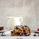 Blueberry and Cashew Butter Hemp Seed Breakfast Bars