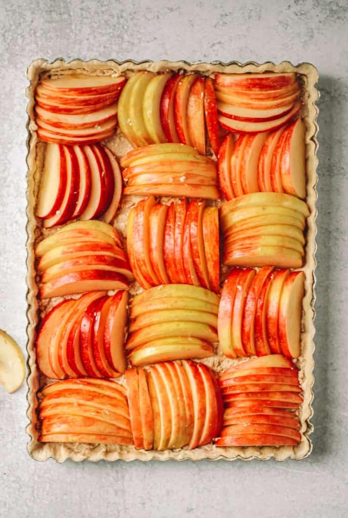 apple tart before the oven