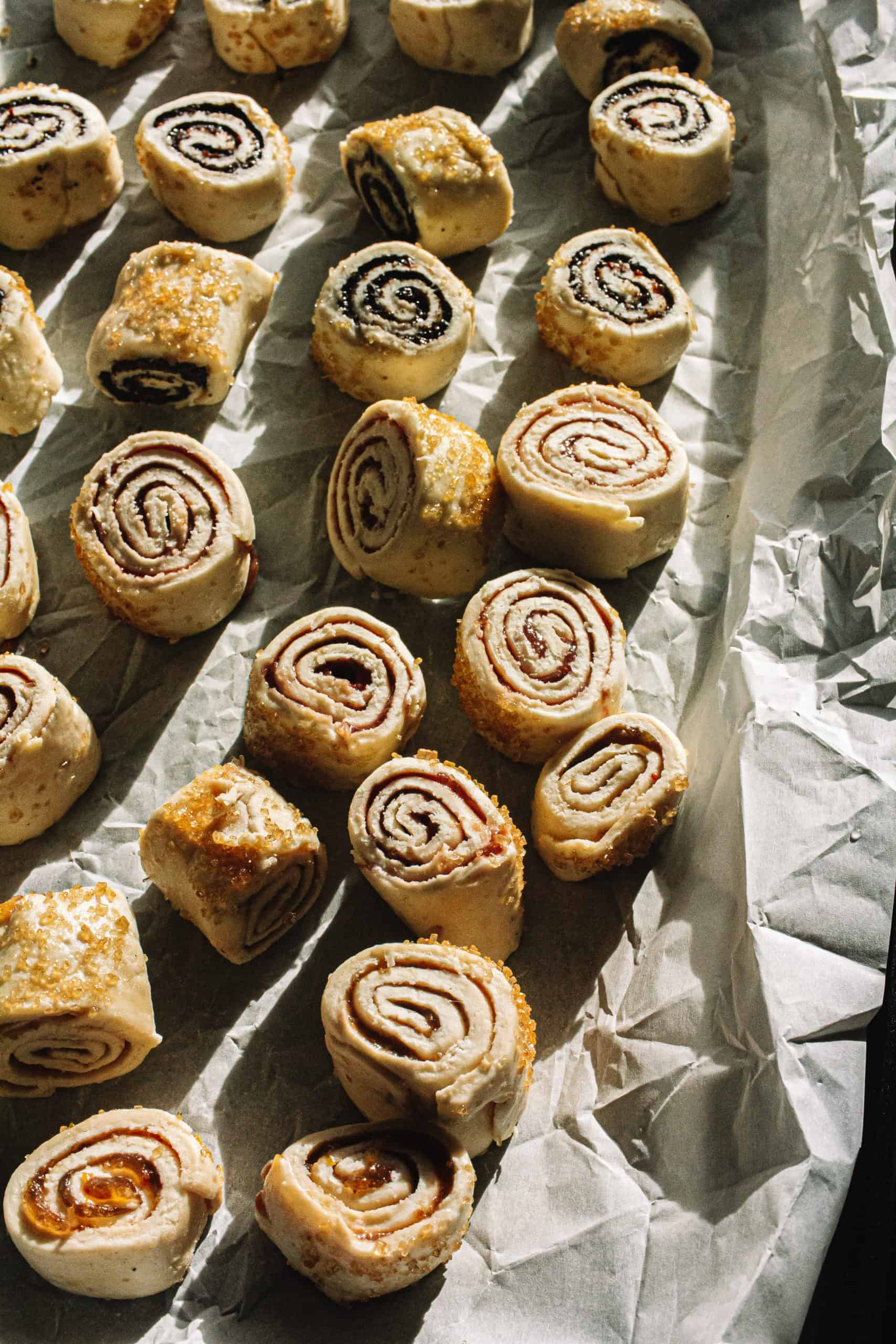 Vegan Rugelach-Buttery and flaky with a crisp and airy pastry dough