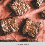 Dark Chocolate Fudgy Brownies-The best dairy free fudgy brownies with a perfect crackly top