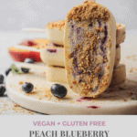 Peach Blueberry Popsicles with Graham Cracker Crust