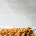 Pinterest image of vegan mac and cheese